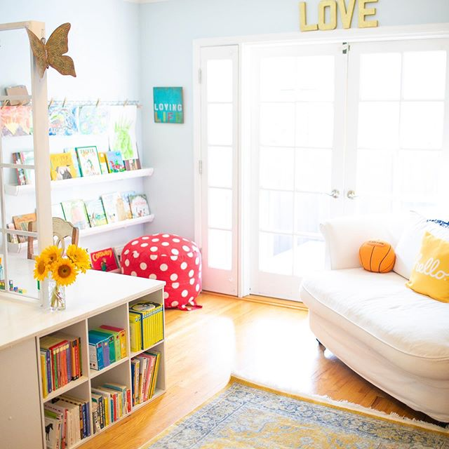 Our school room never looks like this.  Well, in my mind it does.  I do crave order and organization - it just feels good.  But, I'd rather have books on the floor that were read and loved than a perfectly organized shelf.⠀ ⠀ I'd rather have an explosion of paper clippings and glue sticks and markers from a half finished project than a perfectly organized craft shelf.⠀ ⠀ I'd rather have all of our music instruments out on the floor than having never made music together.⠀ ⠀ I'd rather live wildly and fully and messy - because someday, I know I'm going to miss the days where we read every book on our shelf, made art projects to our hearts content and created loud, ear splitting music out of pure joy. ⠀ These are the days.  What's your children's favorite way to make a mess? ⠀