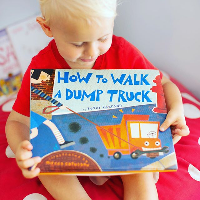 Do you have any pets?  We have our sweet little mini golden doodle, Teddy.  He loves dropped food on the floor, long walks on the beach and has a favorite place on the couch (that he's not supposed to be on!)⠀ ⠀ This new book, How to Walk a Dump Truck, is just as fun as it is ridiculous - instead of adopting a pet, this boy decides to adopt a dump truck.  Just like a new pet, a new dump truck is a heap of responsibility. ⠀ ⠀ This book includes tips on: selecting the perfect leash at the hardware store; whether to feed your truck diesel or regular; cleaning up your truck's messes at the dump; socializing with other trucks, and much more.⠀ ⠀ Do you have a little one that might love this silly, hilarious tale?⠀ ⠀ How To Walk a Dump Truck⠀ Peter Pearson and Mircea Catusanu⠀ @harperkids