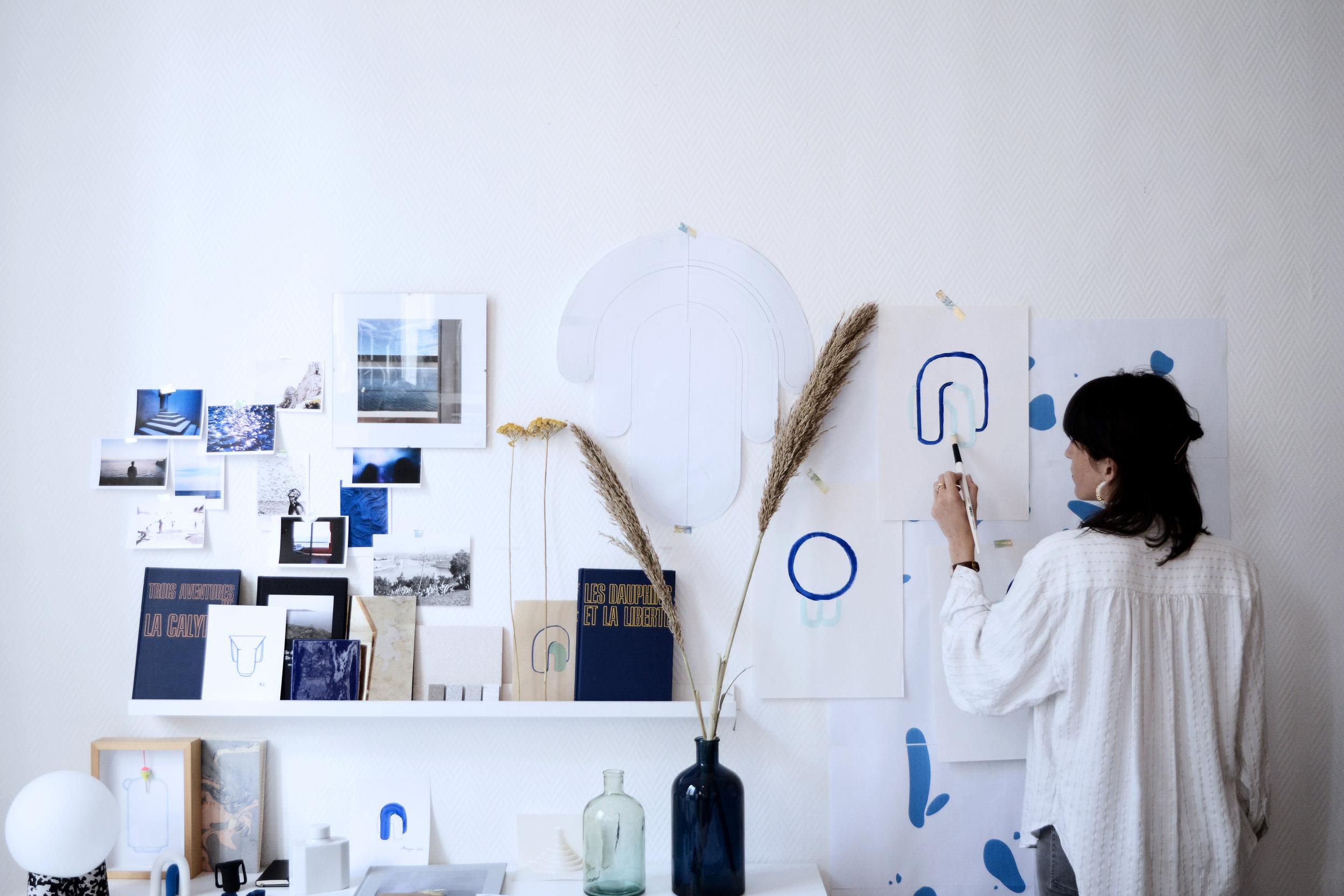 Recherche formelle en peinture.