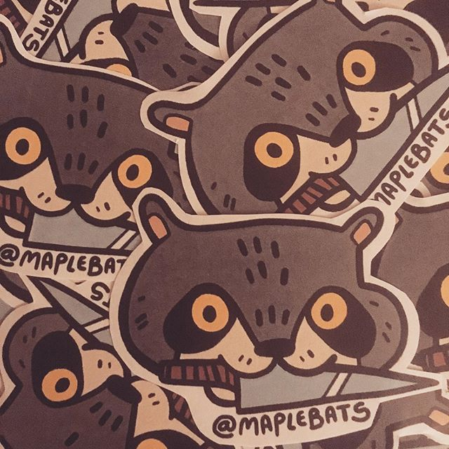 Looking forward to seeing everyone attending D&AD New Blood at the Truman Brewery on the 12 and 13th! If you can catch me there, you might get your hands on one of these sneaky boys!  #art #illustrator #illustration #stickers #raccoon #knifecat #dandad19 #dandad #newblood #newbloodart