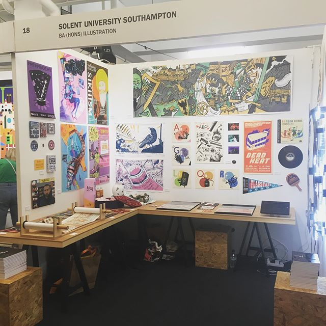 Solent Illustration is at New Blood! Come down and say hello : D  #art #illustrator #illustration #solent #newblood #dandad