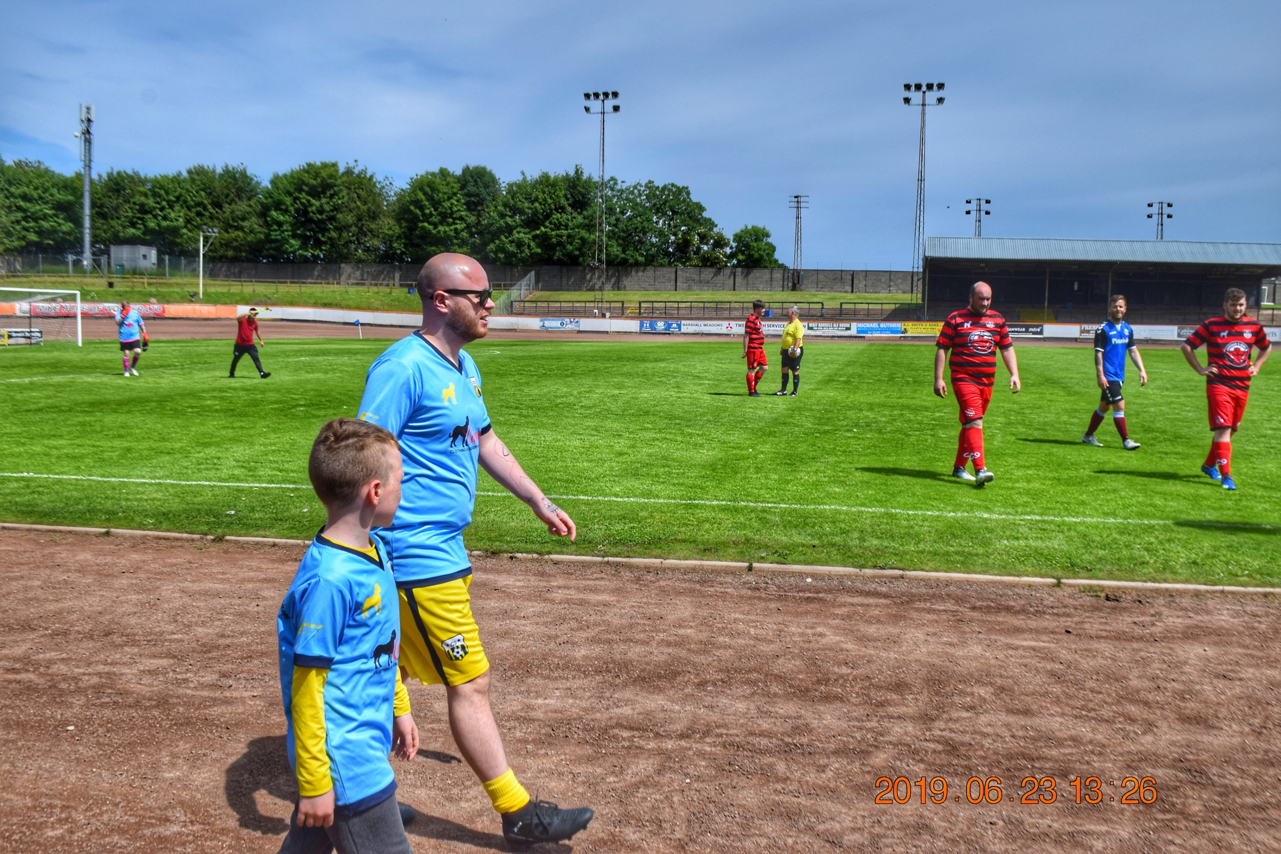 The 2 Colin's during the Berwick & Borders Charity Cup - 23/06/19