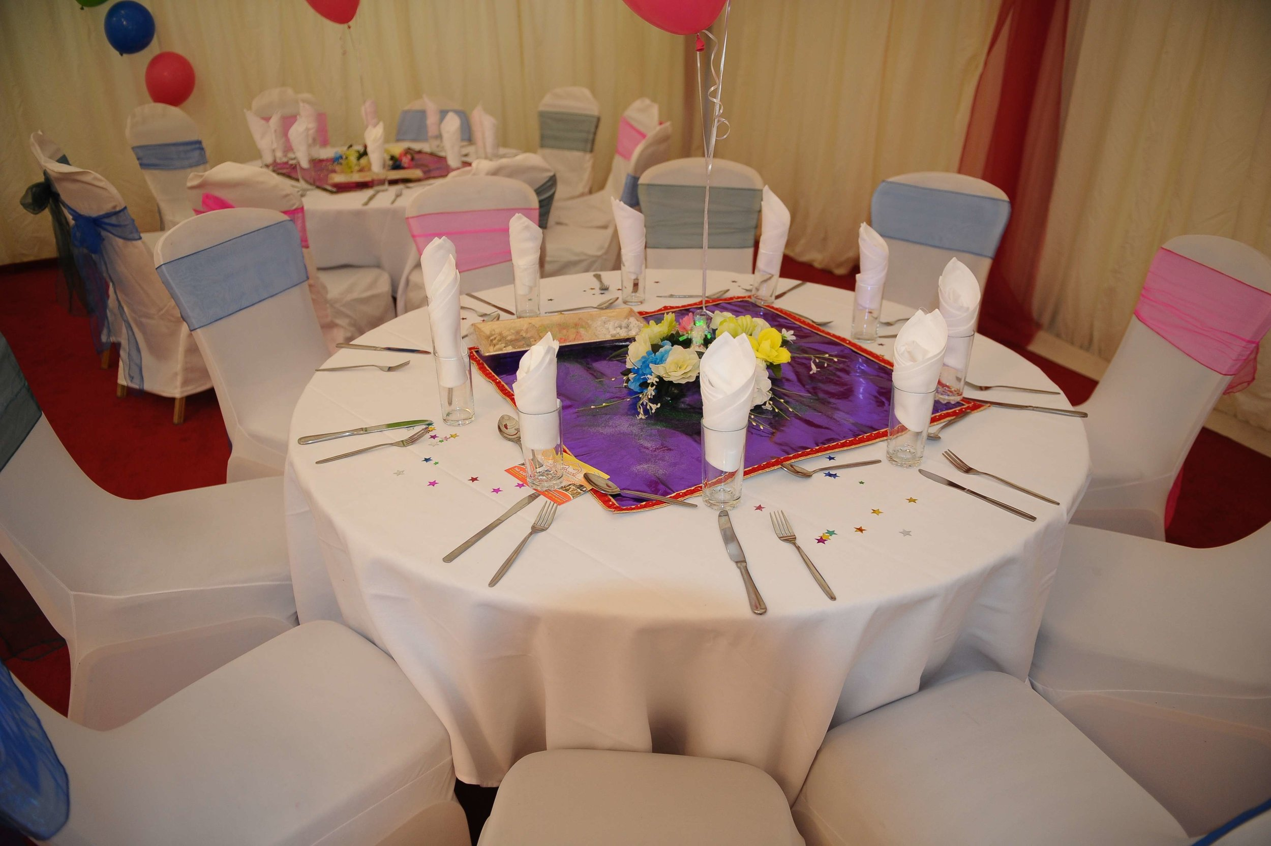 the tables at an event at Venue5