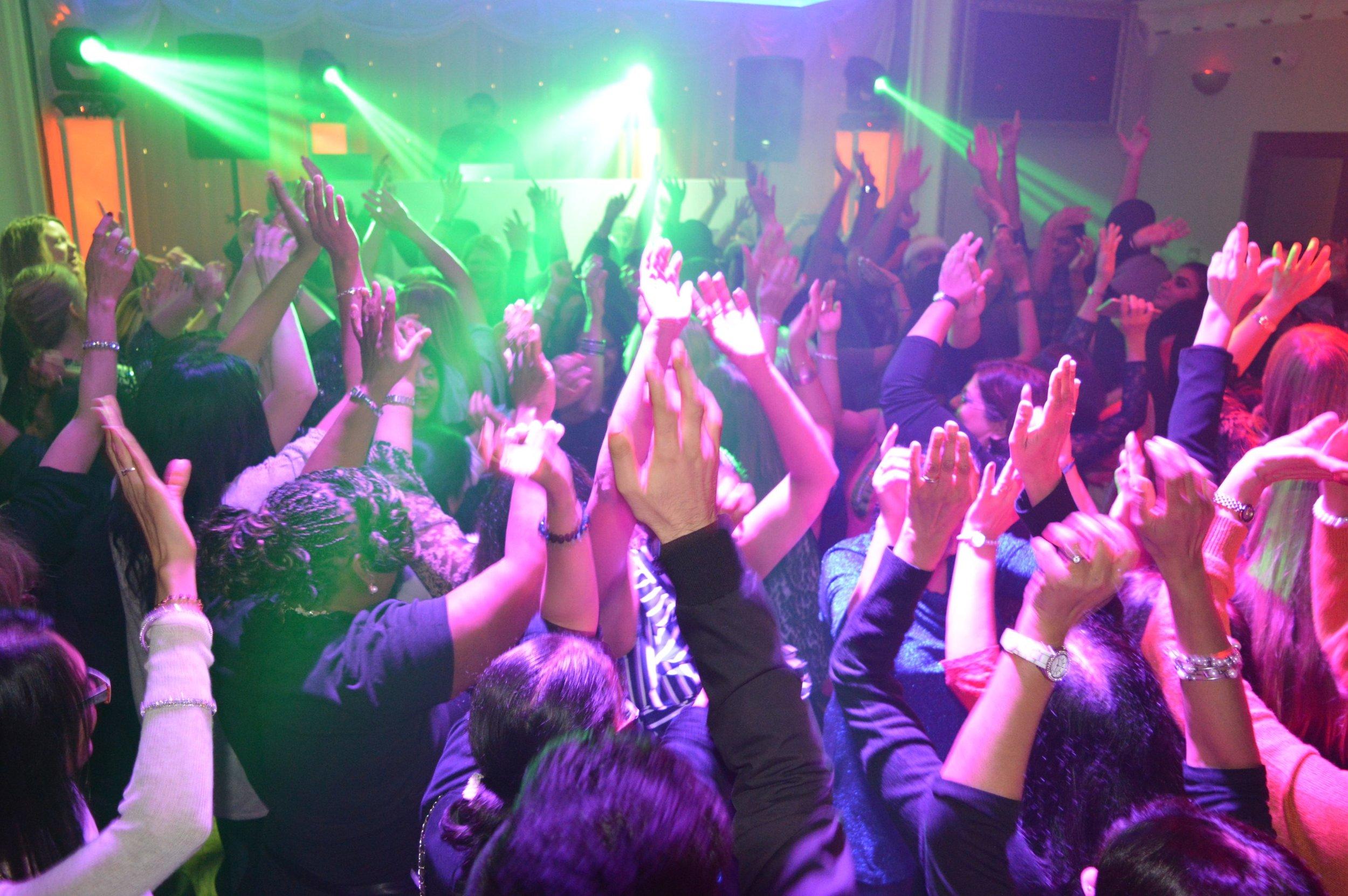 guest dancing at a Venue5 event