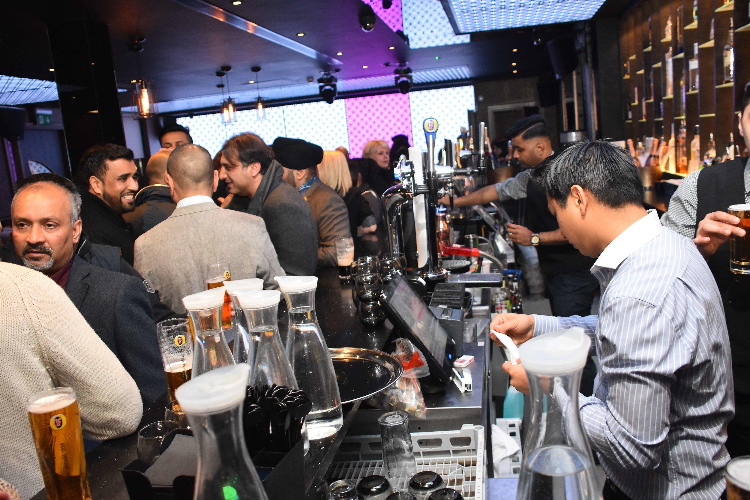 the bar at Venue5 events