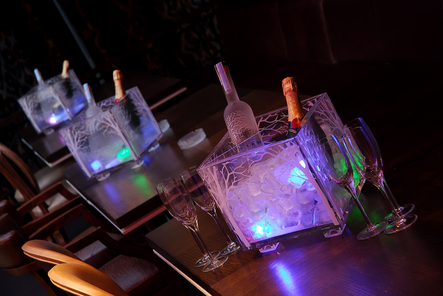 bottles of spirits for an event at the Venue5