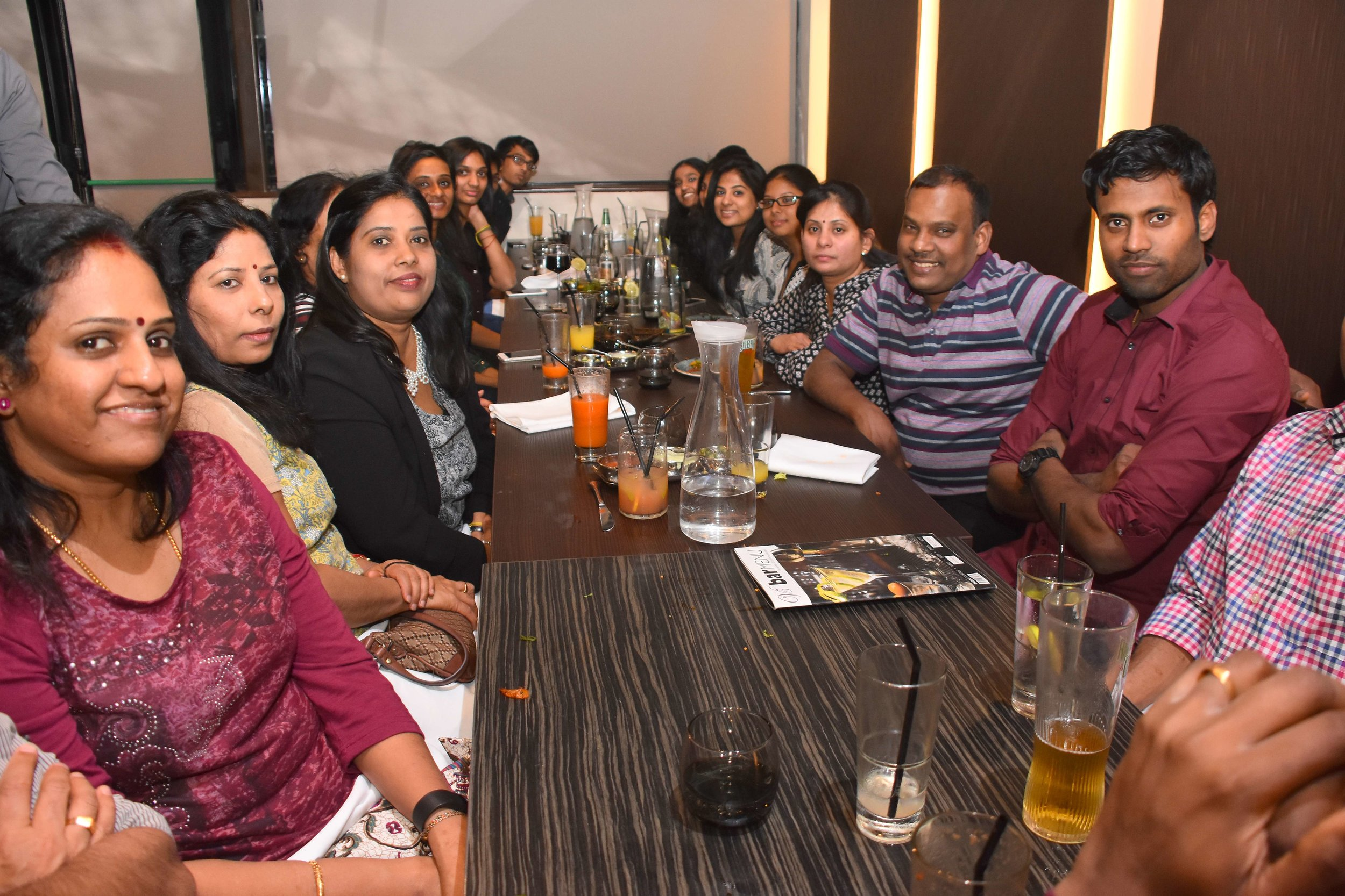 group of guest having dinner at the Venue5 restaurant