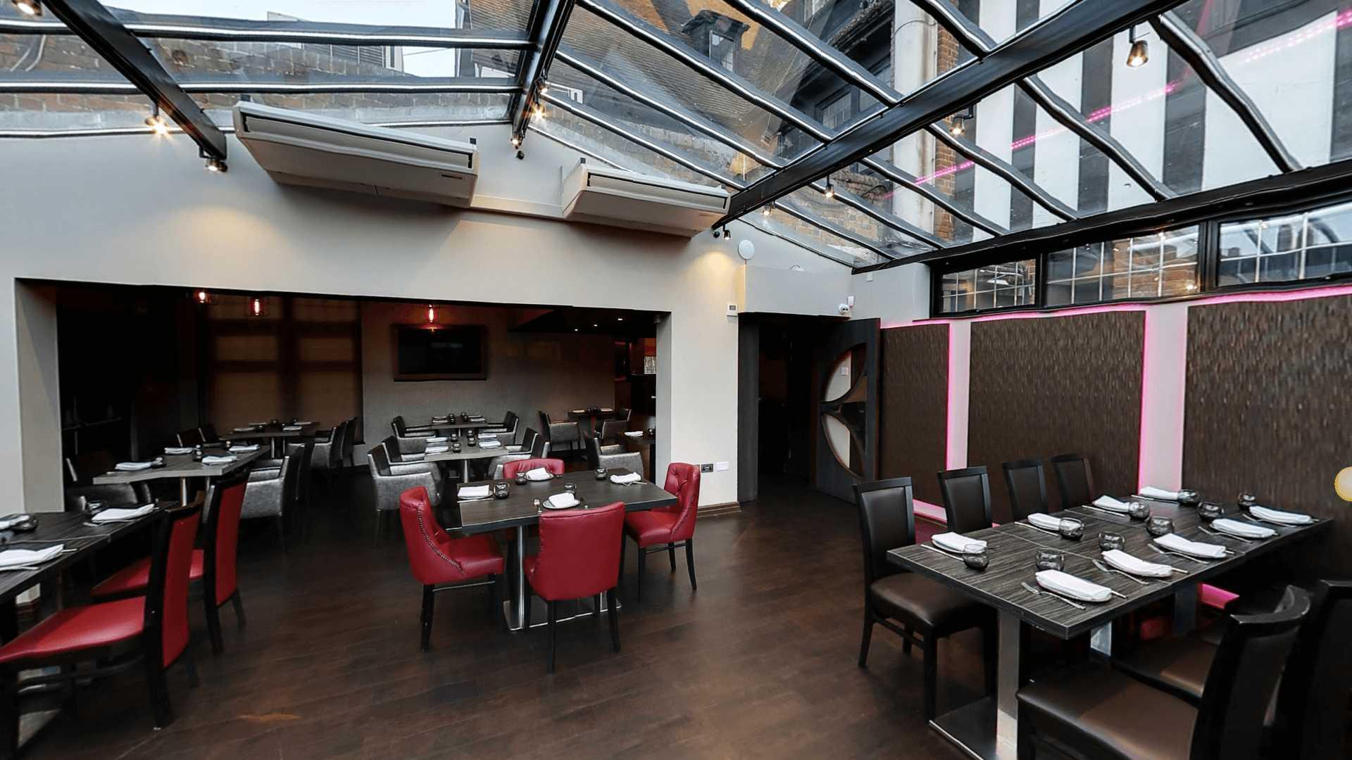 Copy of the empty Venue5 lounge