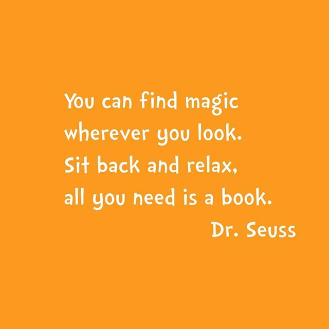 It's International Children's Book Day today, so we celebrate with a short rhyme by Dr Seuss.  Which one is your favourite children's book that you night re-read as an adult?