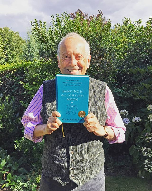 If your school is registered to recite poetry for #PoetryTogether2019, you will receive a free signed copy of @gylesbrandreth's new poetry anthology, Dancing by the Light of the Moon!  Register now following the link in our bio!
