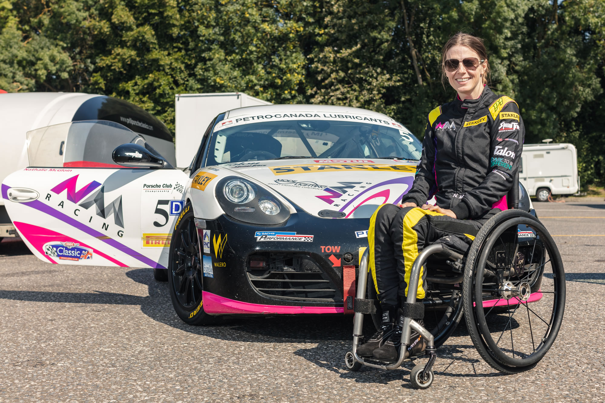 Nathalie McGloin at Brands Hatch