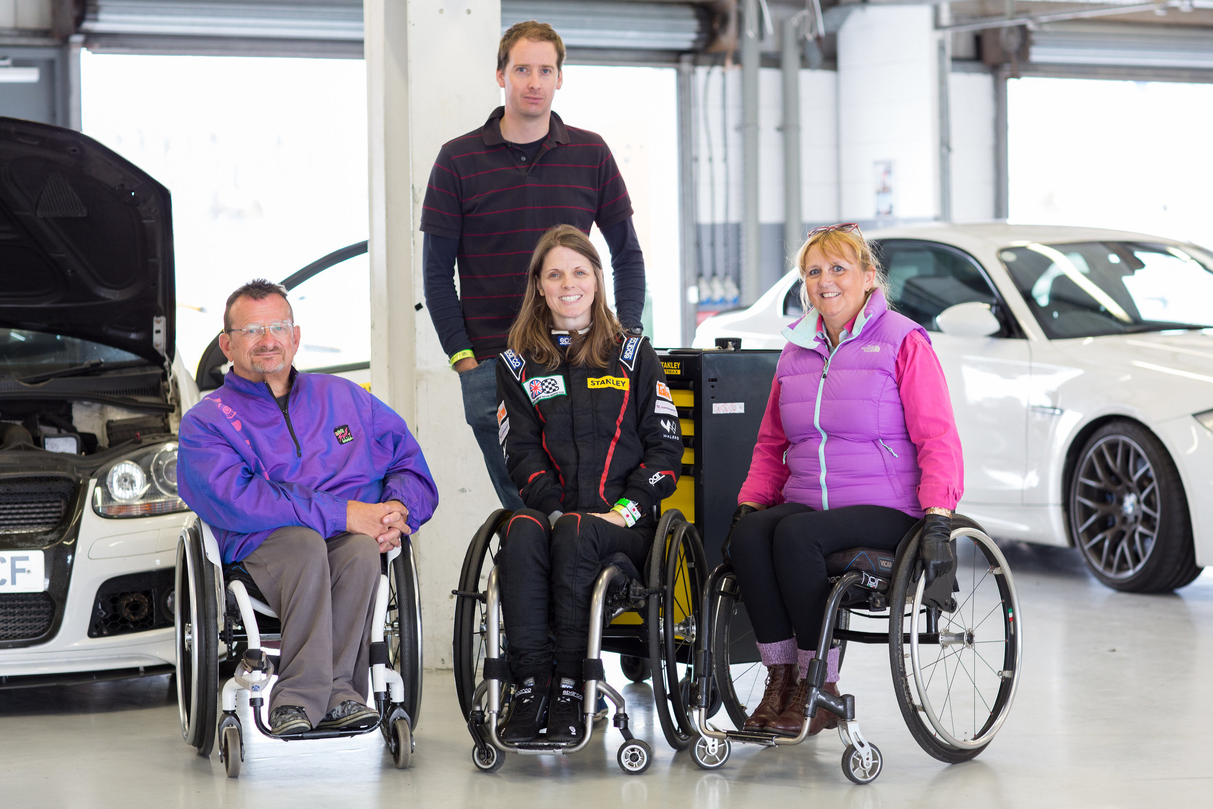 Spinal Track - Nathalie co-founded Spinal Track, a charity enabling disabled drivers to enjoy track days and rally experiences...