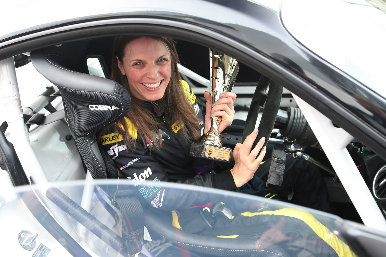 Nathalie after winning her first race