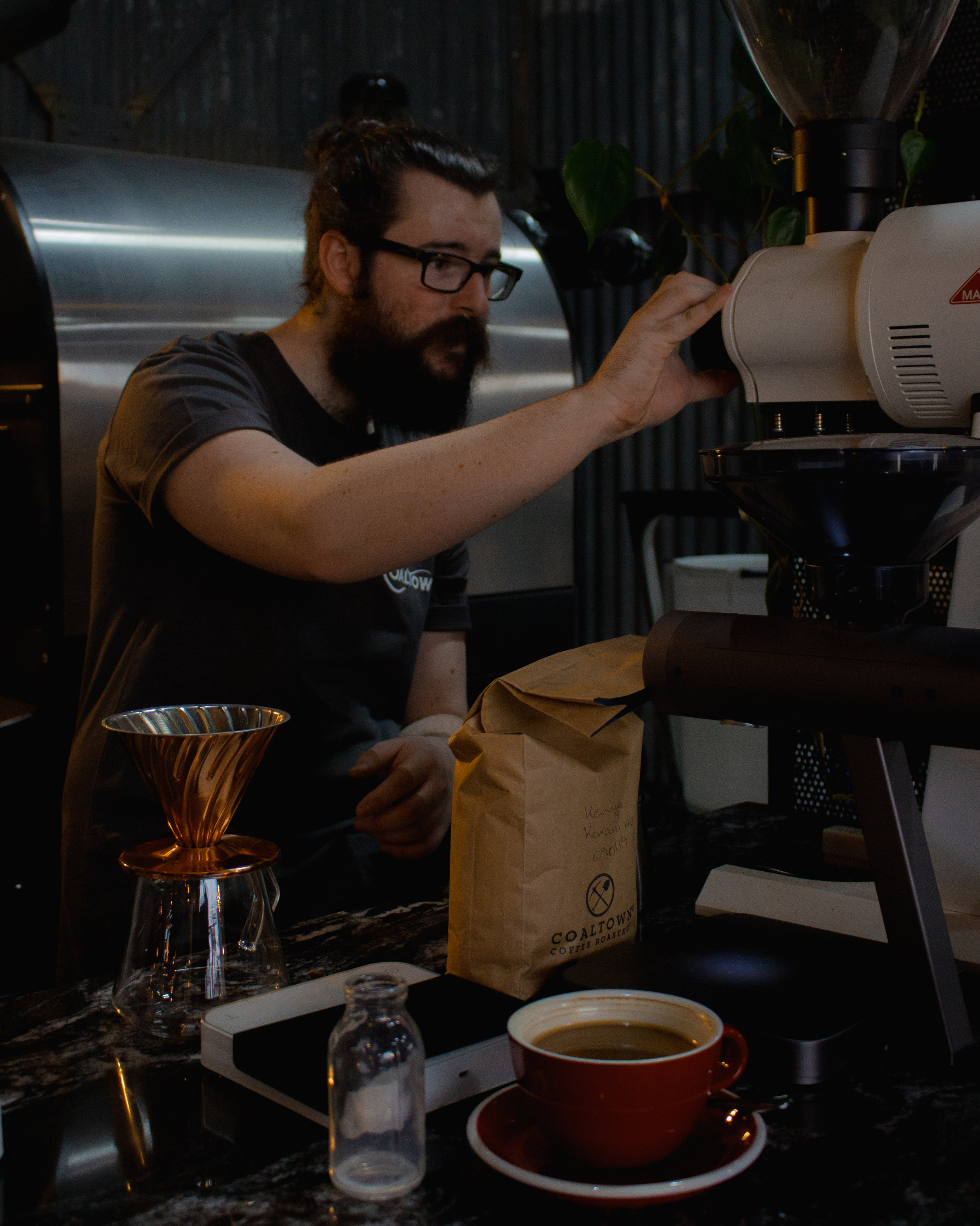 """the goal of Coal Town Coffee is to bring a new industry to Ammanford"" -"