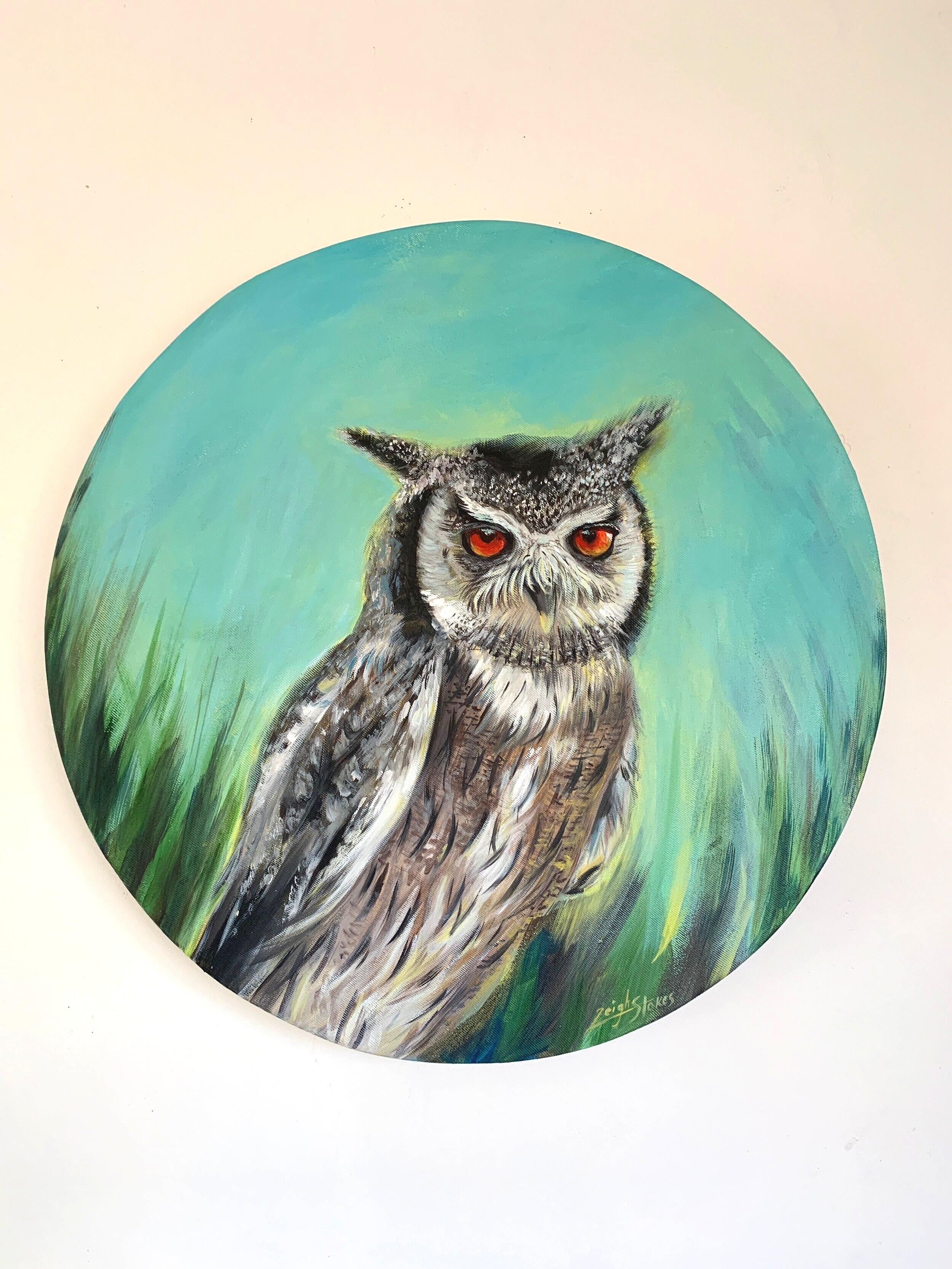 AVAILABLE: 55cm diameter round owl. R2600