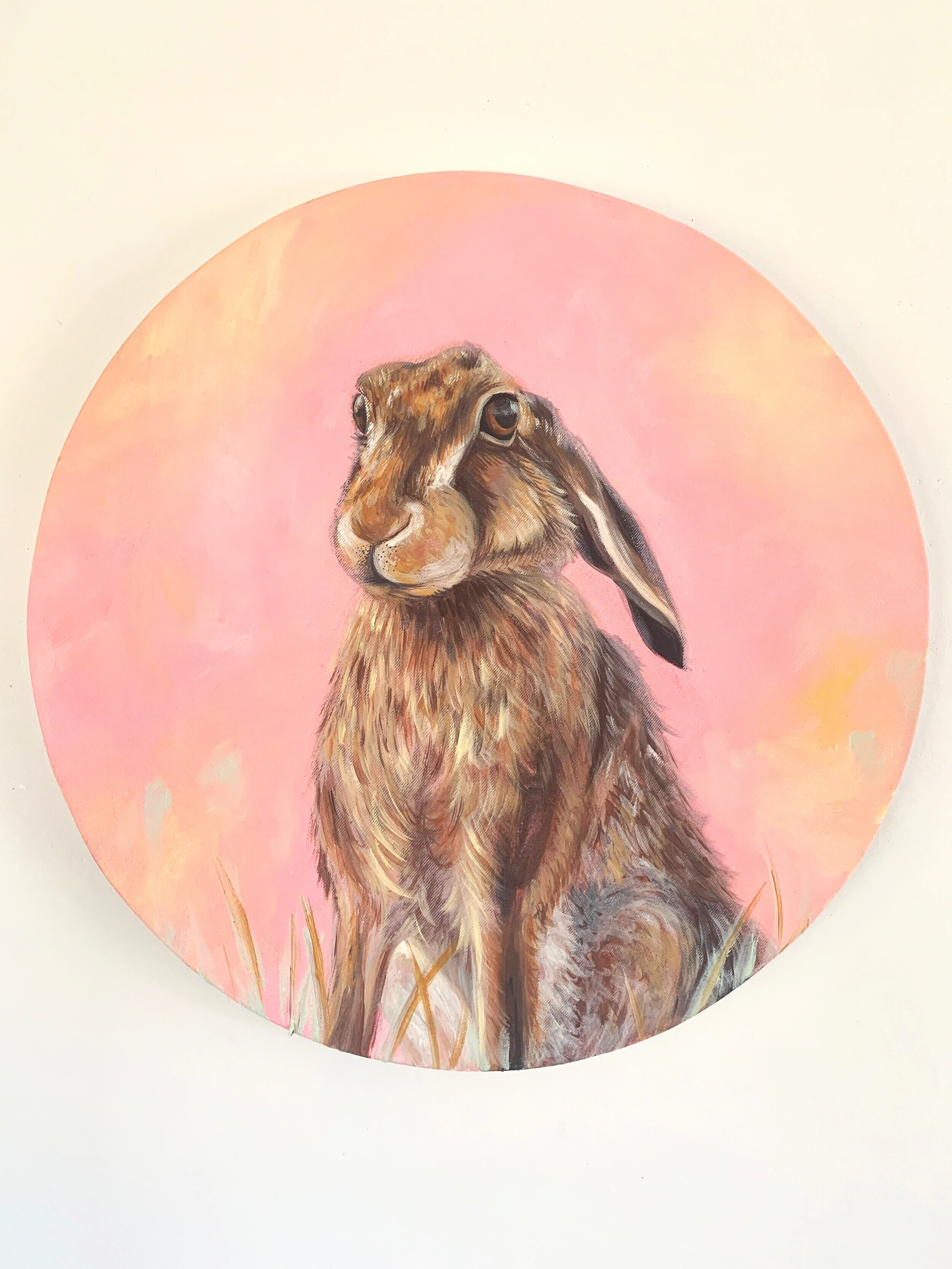 SOLD: round pink hare R2600