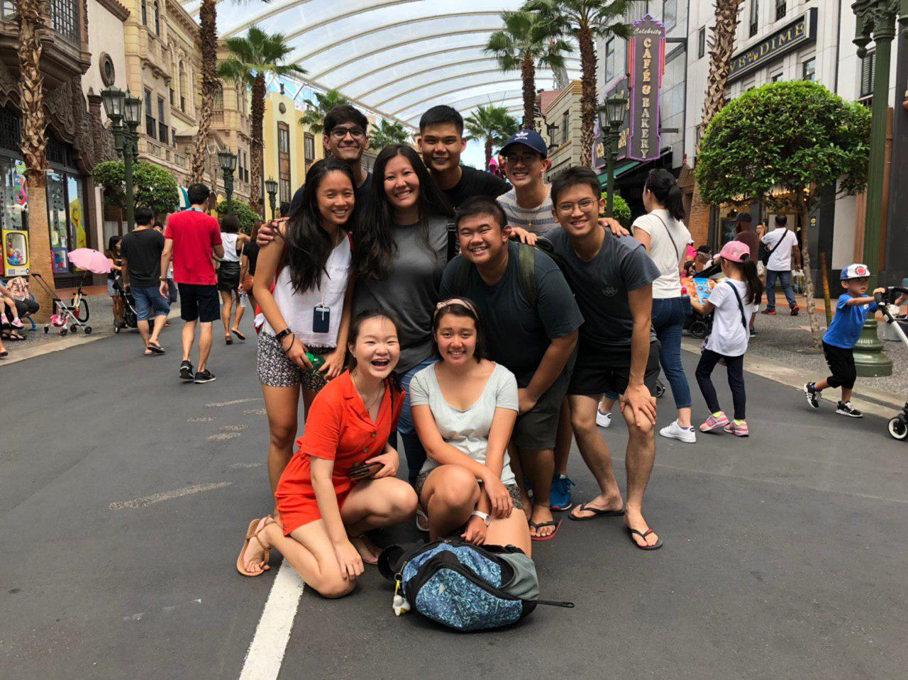 The Exco on a well-deserved team outing to USS