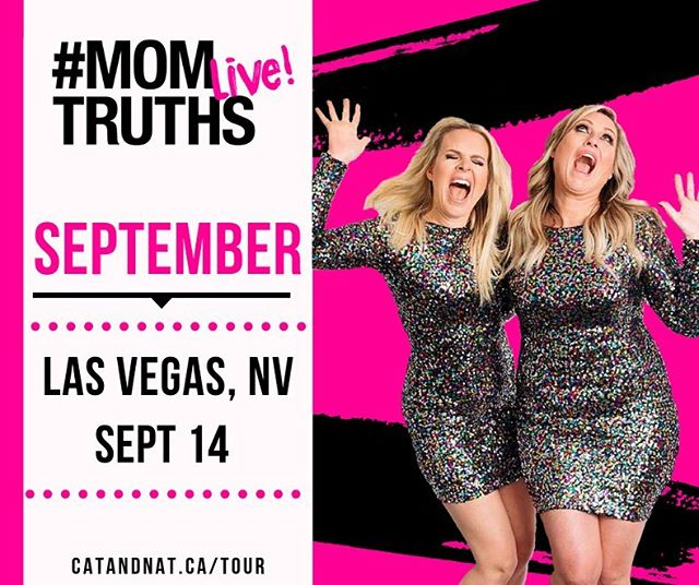 Swipe to see if we're coming to you!!! Leave us a yay or nay if we're coming to your city in the fall!!!!! #catandnatlive#momtruthslive . What city should we hit up ?! Tag the girls you want to go with and tickets are linked in our profile 🥰