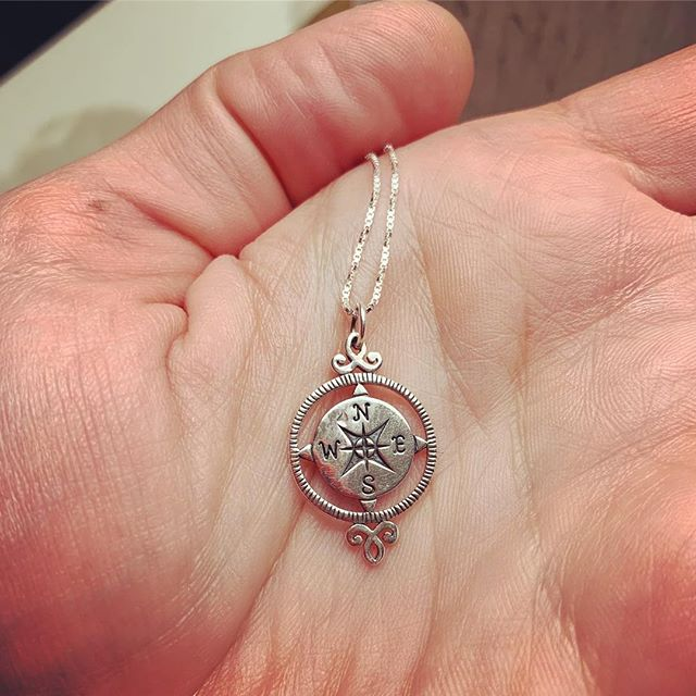 You never know where your angels will come from. Stay open-hearted my friends. One came to me unexpectedly and gave me the spark to light the fire of Compass Credo. After speaking last night with her and her community in Dallas, she gave me this compass necklace so I'll always be able to find my true north. We shared the happiest of tears and laughter. Thank you Martha for bringing so much joy to life and for sharing your light with me. #truenorth #compasscredo