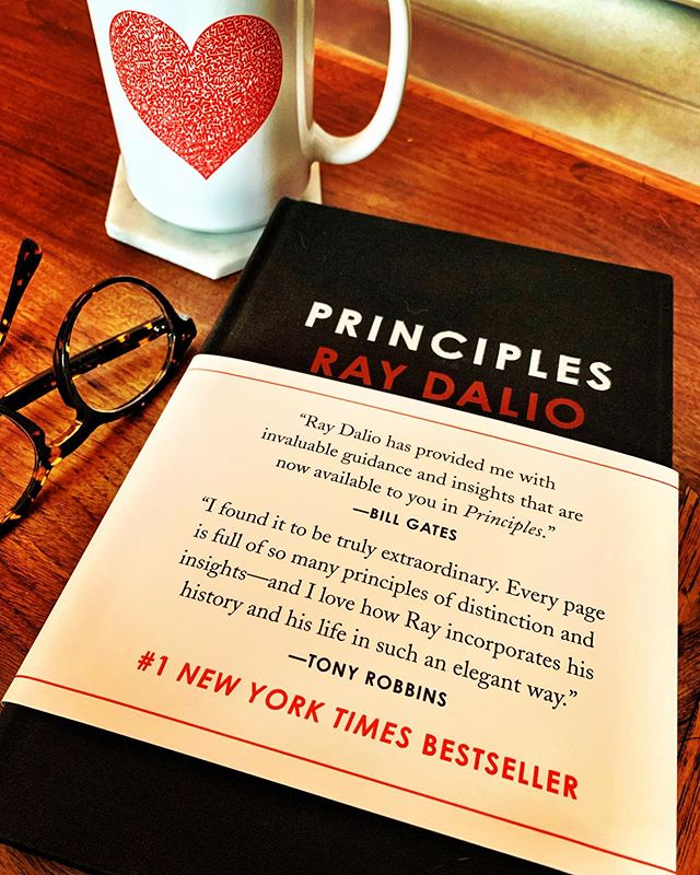 Morning readings. One of the best I've read in a long time. Thank you @raydalio for sharing your insights unflinching in your honesty and expectation. It's books like this that keep me excited and in a state of constant learning. #raydalio #principles