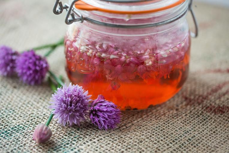 Chive Blossom Vinegar - Deliciously Raw