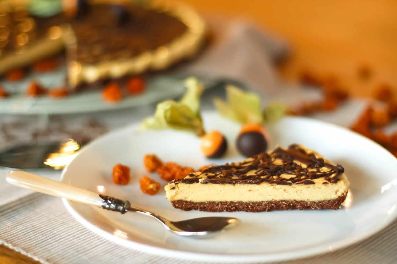 golden berry vegan tart