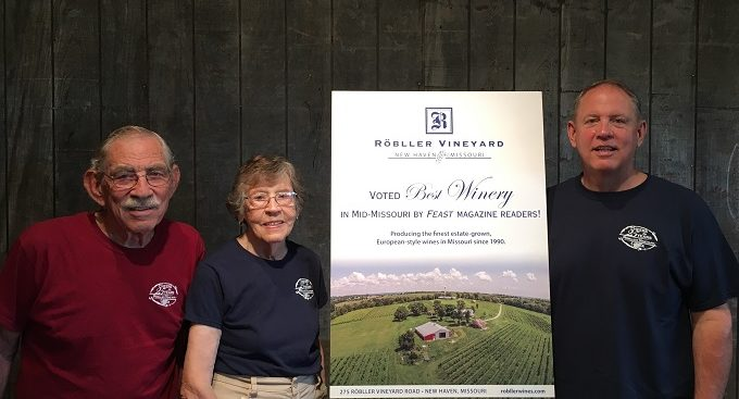 "Röbller Vineyard Voted Best Winery In Mid-Missouri By Feast Magazine Readers - ""Röbller Vineyard received the top honor out of a list of 15 wineries in the mid-Missouri region, which includes Columbia, Jefferson City, Augusta, Hermann, and surrounding areas…"""
