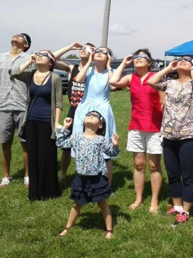 "Our lab watched the Solar Eclipse in Röbller Vineyard Winery - Photo from the August 21, 2017 solar eclipse when Chen Ultrasound Laboratory watched the solar eclipse at Röbller Vineyard Winery. ""Our research laboratory combines engineering, biology, and medicine to develop ultrasound techniques…"""