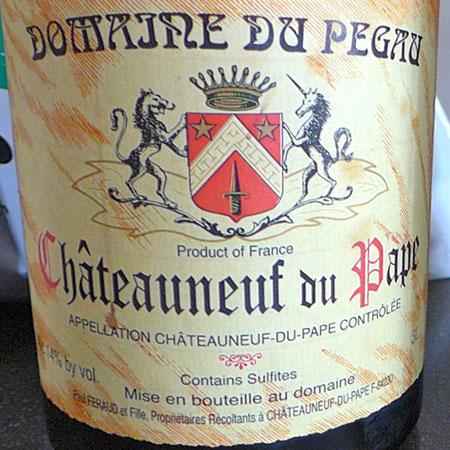 Domaine du Pegau Wine