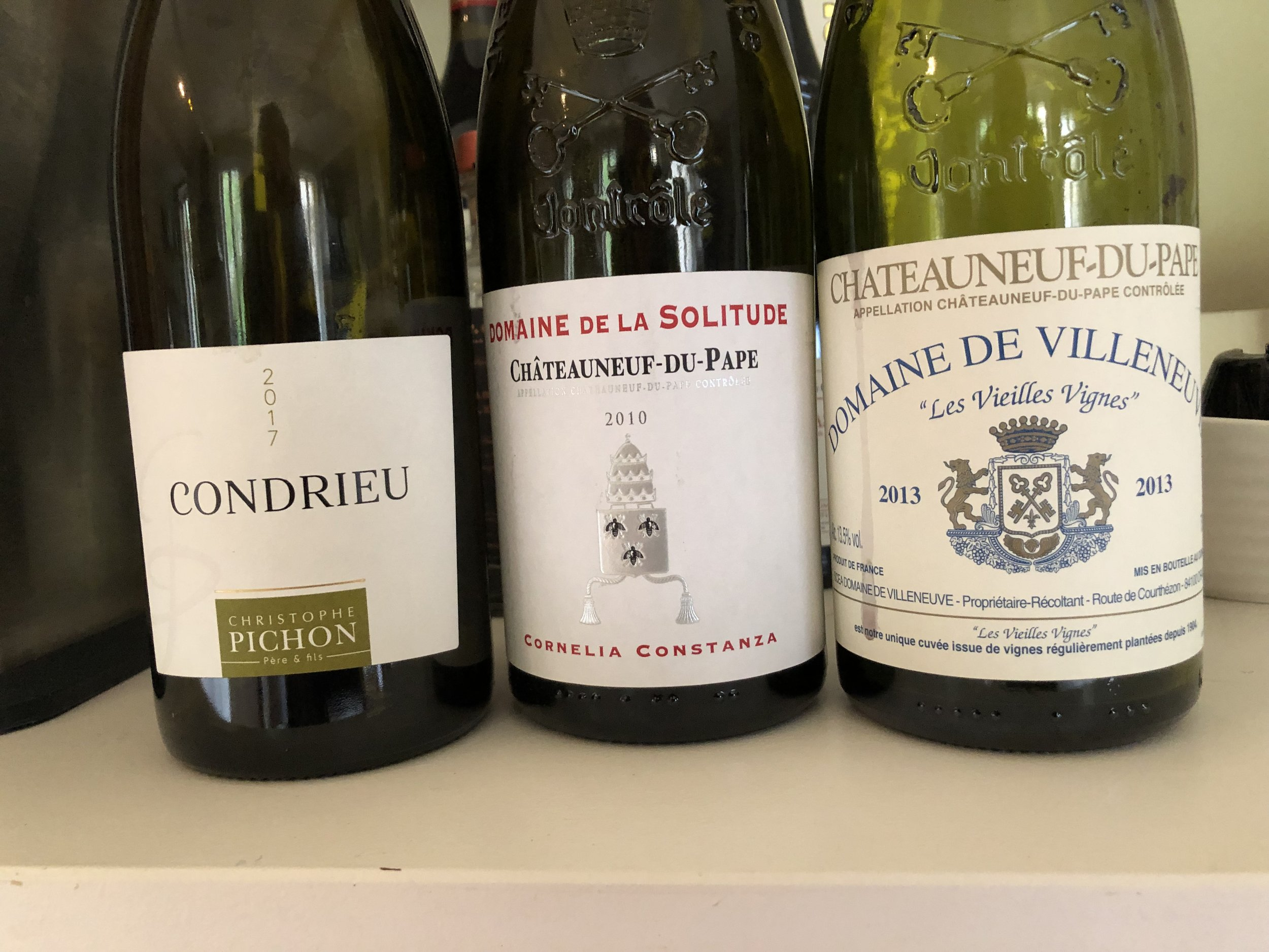 Easter Sunday wines at La Madelene