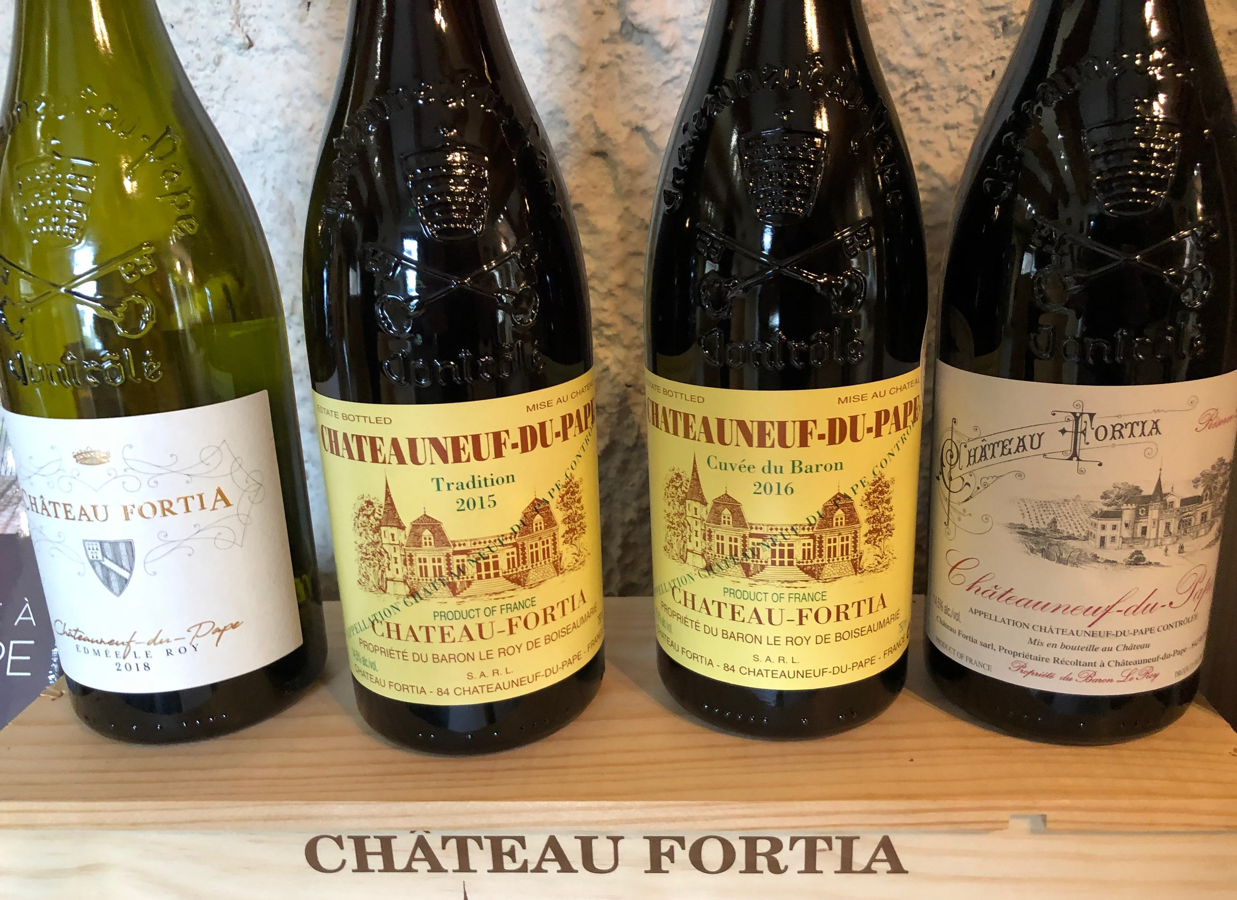 The Fortia cuvée line up