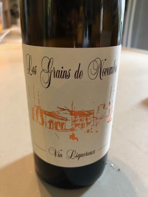 Les Grains des Novembre dessert wine from Vacqueyras producer Clos des Cazaux