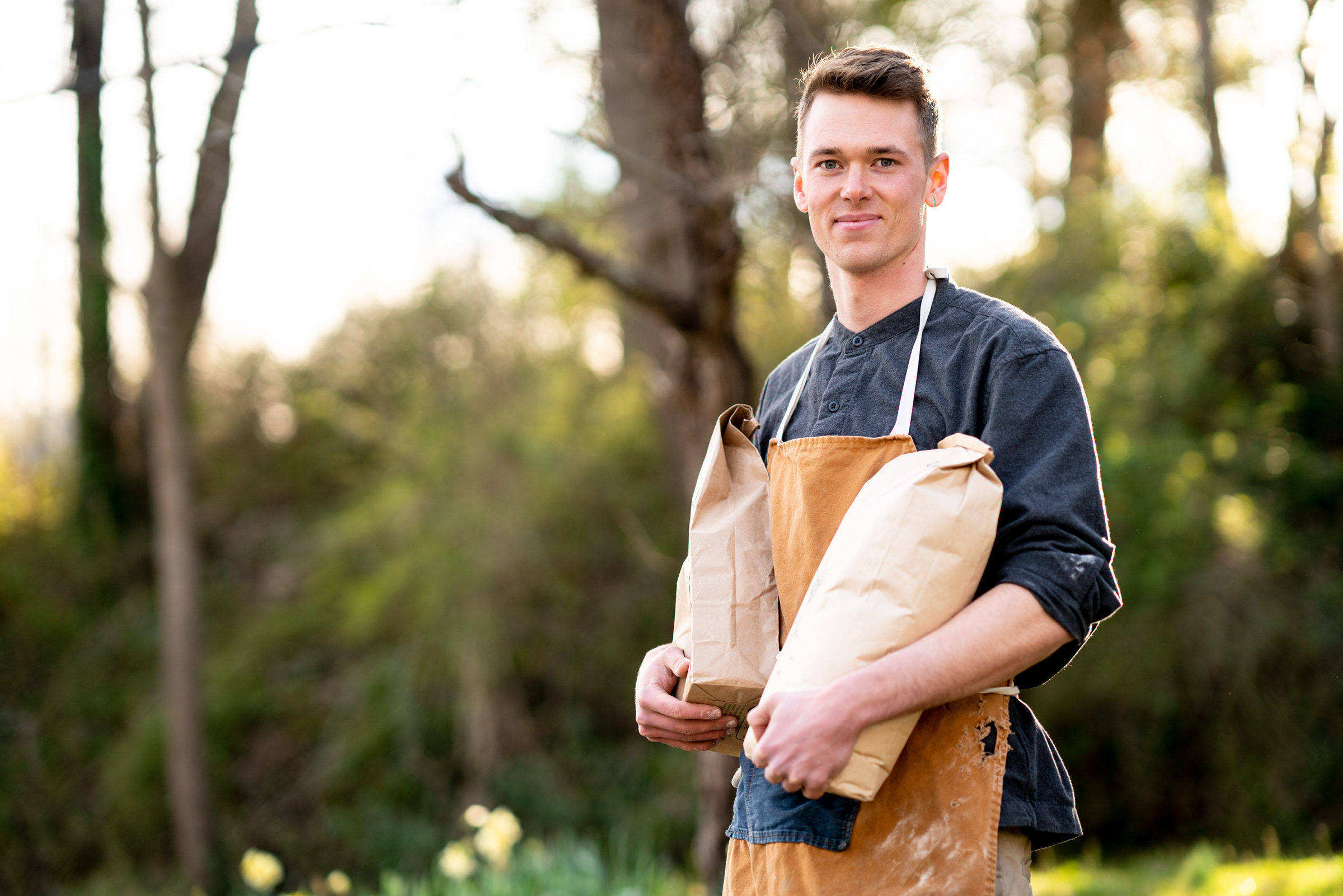 Brennan's fascination with food culture and history was catalyzed by a trip to Western Europe in 2009 to study communal brick ovens. He began baking bread soon after, baking out of his father's own brick oven and selling at local farmers markets during his high school summers. He has a degree from Whitman College in Environmental Humanities—which for him meant exploring our culture's relationship to food—and he has worked in restaurants and bakeries in San Francisco, Portland, and Asheville. The Walnut Schoolhouse is, for him, a way to piece together those disparate experiences, combining his curiosity in food studies with his love of hands-on cooking.  Photo by Lynne Harty