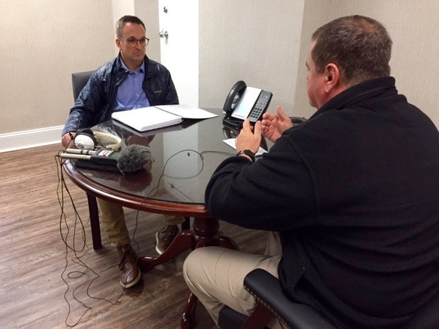 Russ Bowen speaks with Robeson County Sheriff Burnis Wilkins