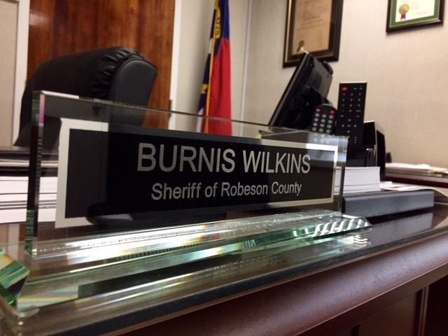 Robeson County Sheriff Burnis Wilkins began his four-year term in December 2018.