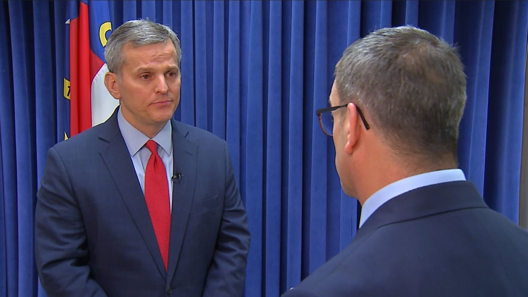 Russ Bowen interviews Attorney General Josh Stein about delay in testing sexual assault kits.