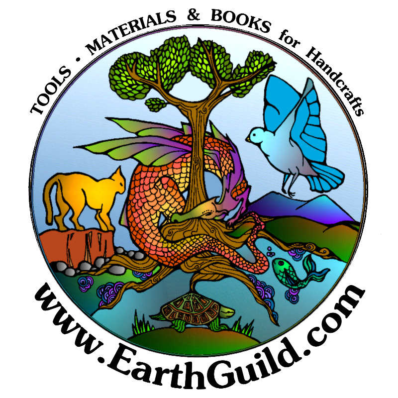 Earth Guild - Materials, tools, and books for handcrafts since 1970. Fiber-centric: fleece, batts, roving, yarn, looms, wheels, needles for weaving, knitting, felting, crochet, natural and chemical dyes and paints. Home of the Dragon Tale Yarns.33 Haywood StreetAsheville, NC 28801(828) 255-7818Hours: Monday-Saturday 10a-6pSunday 12-5pearthguild.com
