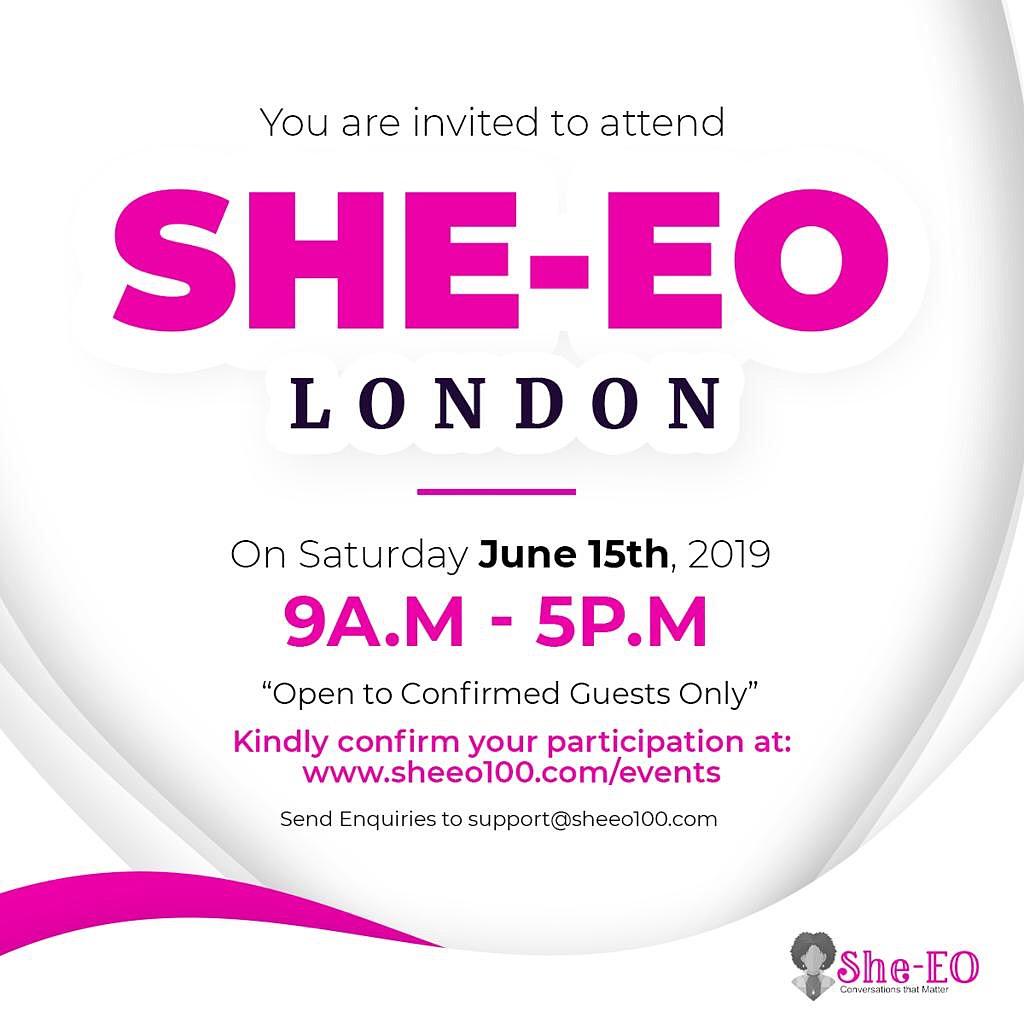 She-EO (5.0 ) London 2o19