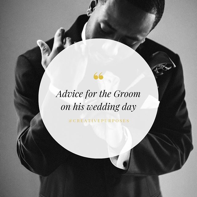 Let's face it, the bride-to-be gets all the attention, but it's also the grooms special day too! Here's my top 3 list of advice for all grooms on their wedding day: ⠀⠀⠀⠀⠀⠀⠀⠀⠀ 1. Get rest. The day of your wedding will require all of your energy; mentally, physically, and emotionally. Charge up before the big day by getting as much rest the night before. ⠀⠀⠀⠀⠀⠀⠀⠀⠀ 2.Be sure to eat. Between getting ready, the ceremony, and taking pictures it will be a long time before you get to eat at the reception. Be sure to eat a nice breakfast to stay energized for the day. ⠀⠀⠀⠀⠀⠀⠀⠀⠀ 2. Take some time to yourself. Before the rush begins and you take your vows, be sure to take some time to yourself to pray, calm yourself,  soak in the moment, and go over your vows. ⠀⠀⠀⠀⠀⠀⠀⠀⠀ What advice would you give grooms-to-be?