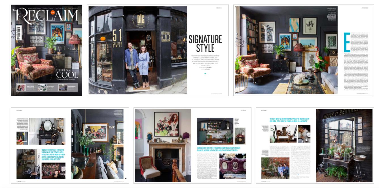 Cassie Nicholas Interior Design Bristol, Reclaim Magazine Dig Haüshizzle. Dark Interior Design, Best Bristol Shops, Antiques Shops Bristol