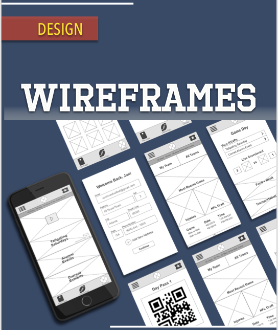 As a team we time boxed a design studio session and then moved into wire frames -