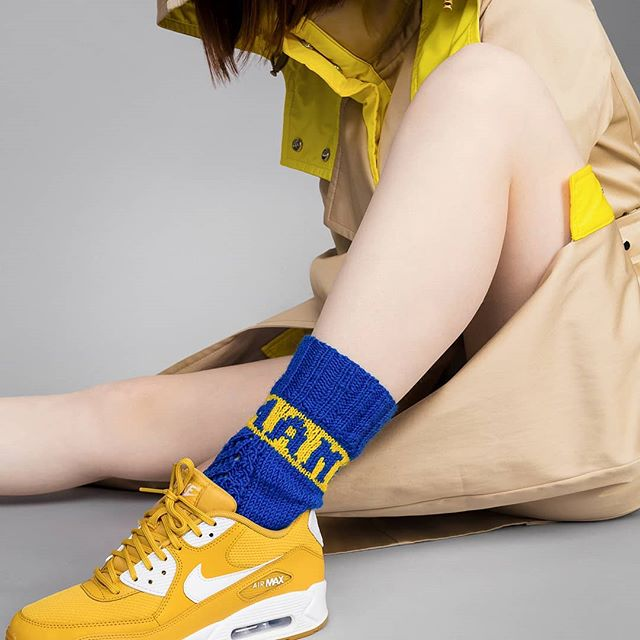 Sunday match  #humanpowersocks + sneakers! Photo @ne_basa Style @lukas.juodis Model @ginger._spice._  #fashionawareness #fashion #knitting #socks #humanpowersocks #socialawareness #sustainablefashion #socialdesign #arnhem #netherlands #lithuania #graphicdesign  #design #natural #socialdesign #creative #fashionindustry #footweardesign #sustainability #responsibility #craft #craftmanship #bohemian #slowfashion #scandinaviandesign #human #knitwear #nike #nikeairmax #sneakers