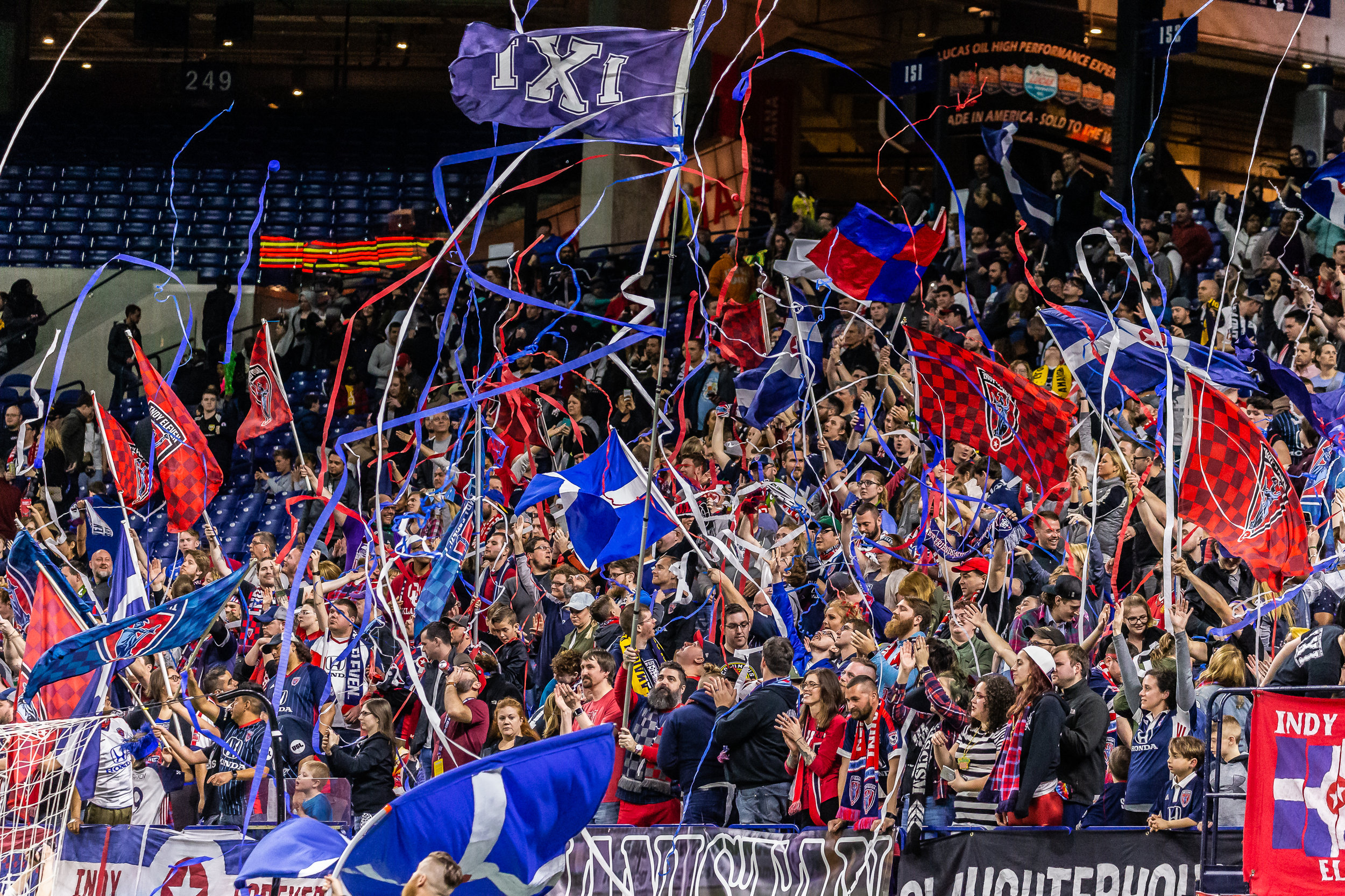 Indy Eleven fans at the home opener in March.  |  Photo courtesy of Indy Eleven