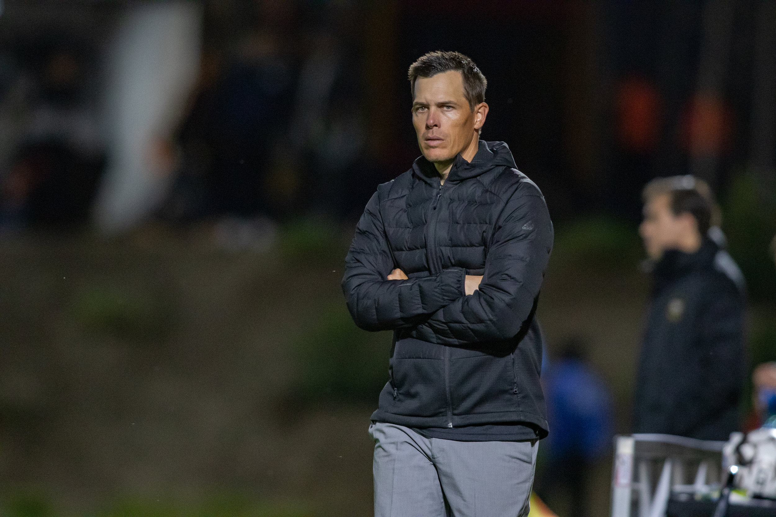 Orange County SC head coach Braeden Cloutier.  |   Photo courtesy of Orange County SC/Liza Rosales