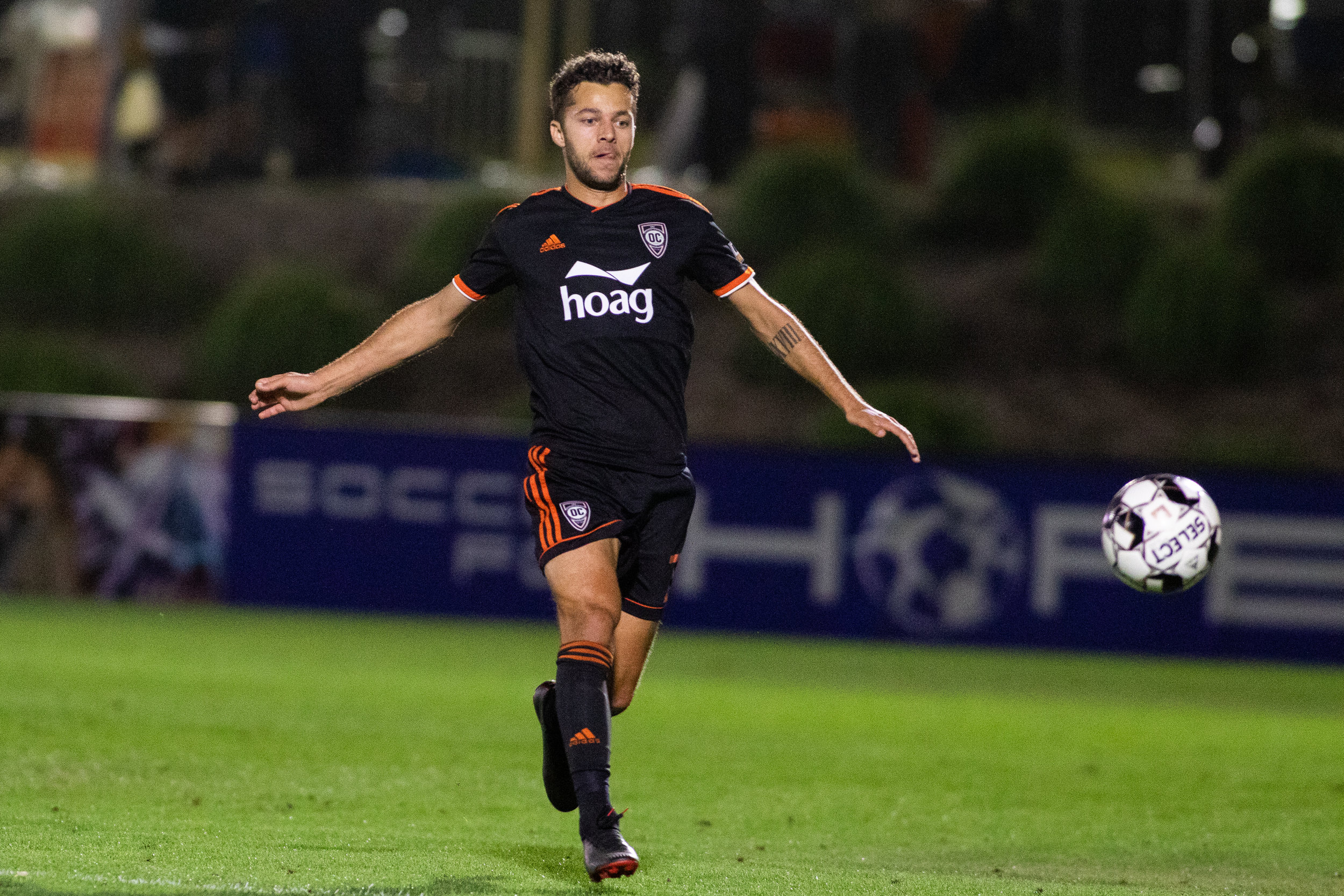 Orange County SC winger Jerry van Wolfgang.  |  Photo courtesy of Orange County SC/Liza Rosales