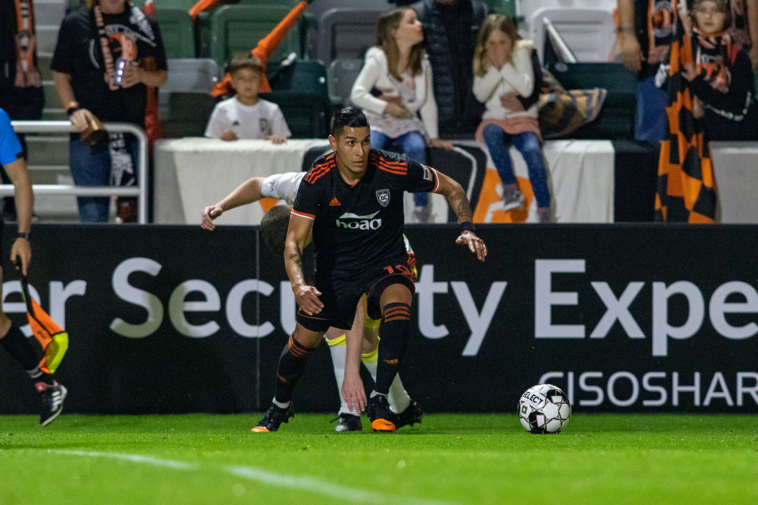 Orange County SC's Giovany Ramos-Godoy in action against New Mexico United. |  Photo courtesy of Orange County SC/Liza Rosales