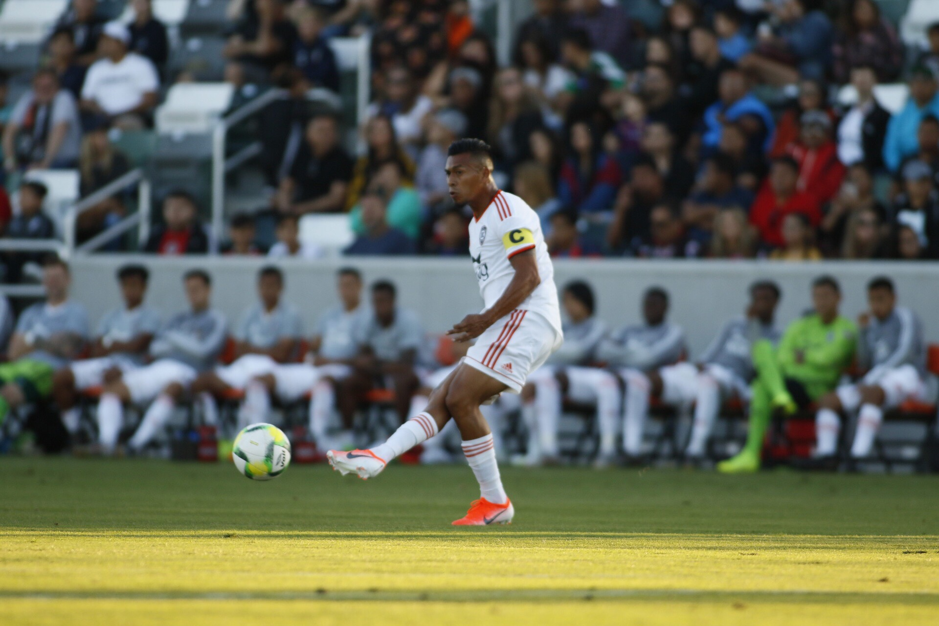 Orange County SC defender Michael Orozco made his debut with the club in Thursday night's 0-1 loss to Club Tijuana.  |   Photo courtesy of Orange County SC/Liza Rosales