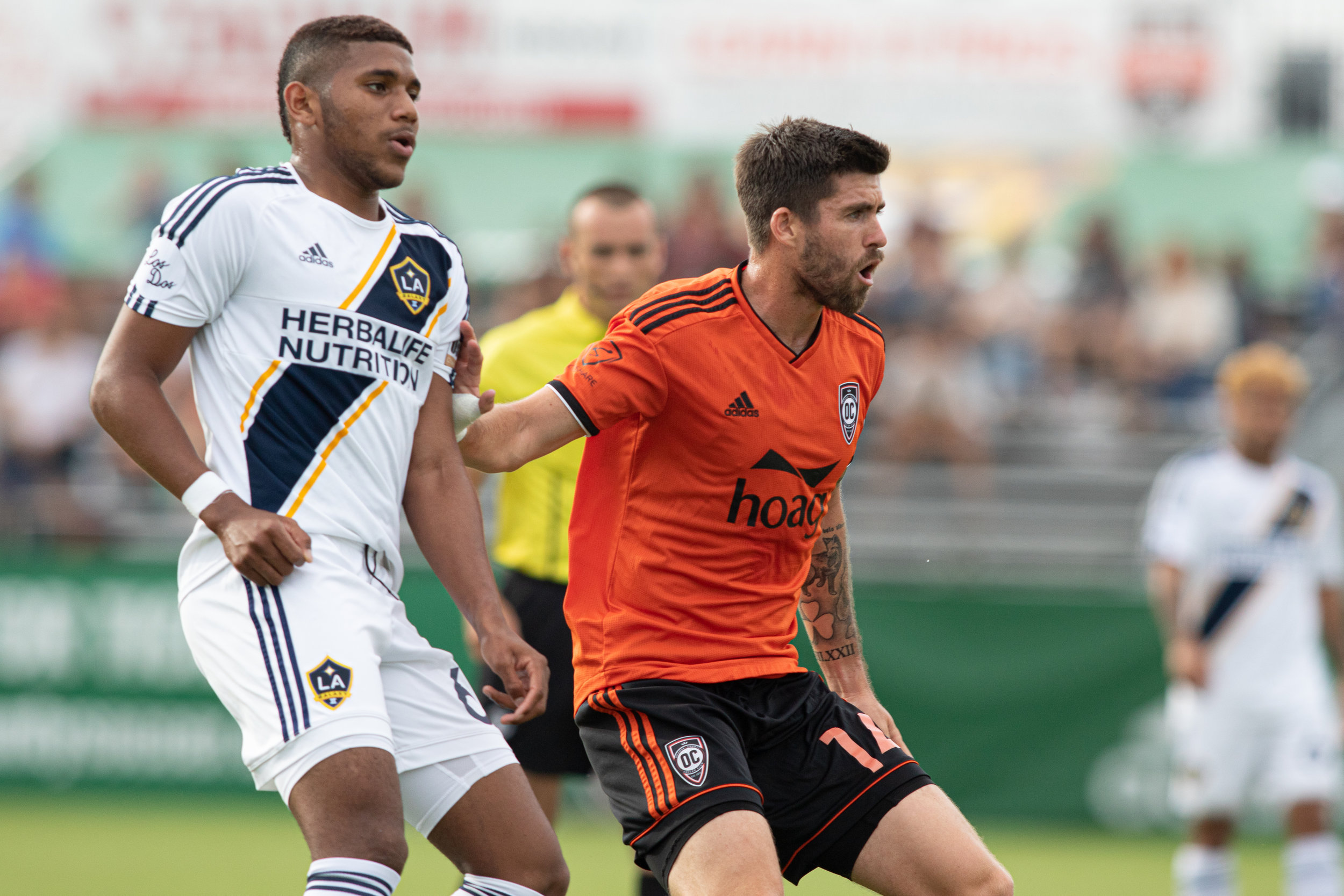 Orange County SC midfielder Aodhan Quinn.  |   Photo courtesy of Orange County SC/Liza Rosales