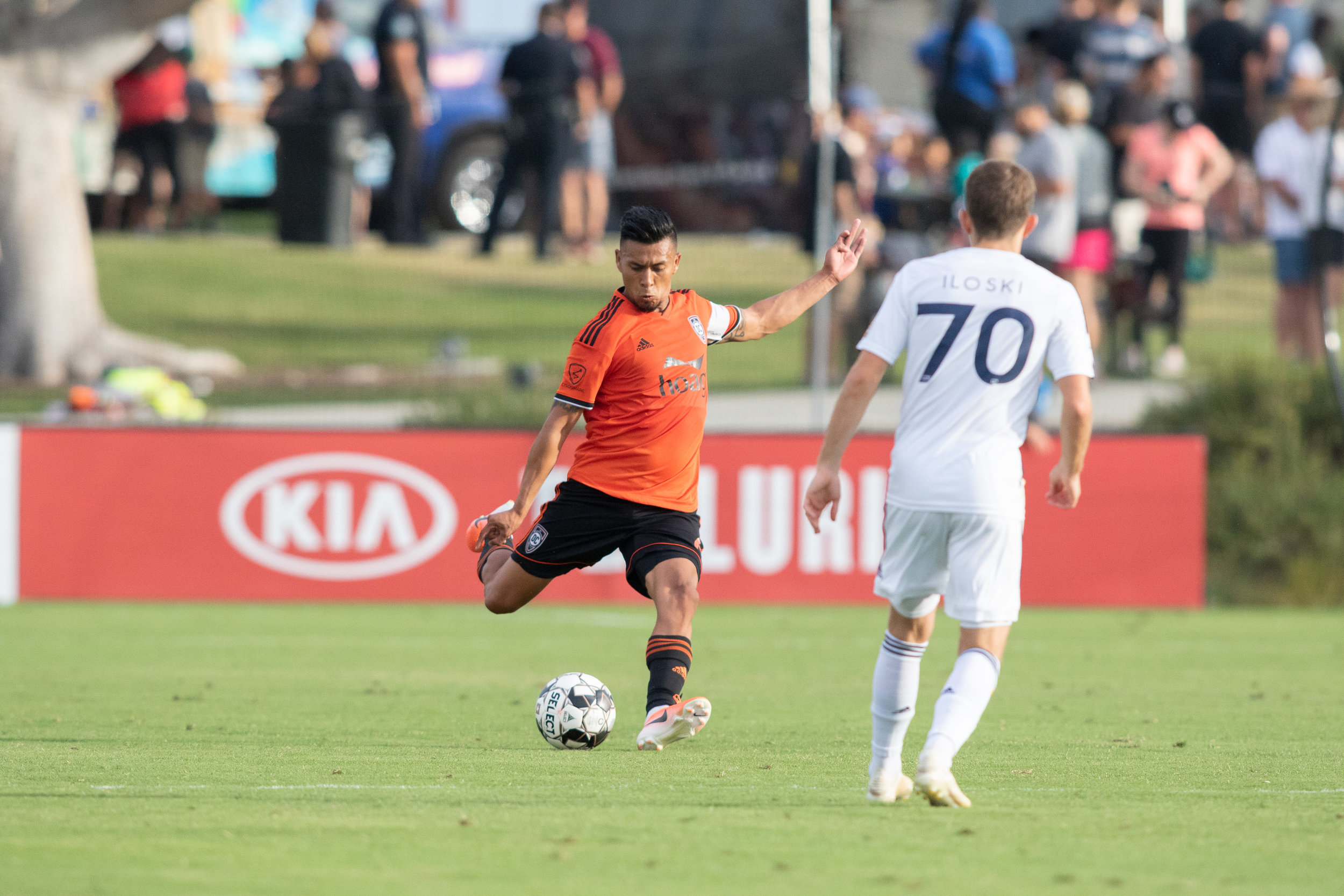 Michael Orozco's  experience and pace were crucial to Wednesday afternoon's victory.  Photo courtesy of Liza Rosales/Orange County SC.