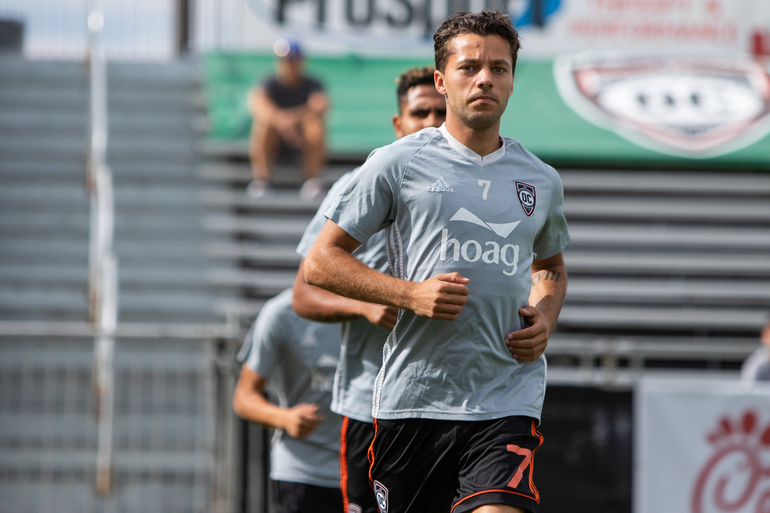 Jerry van Wolfgang will face his former side. The Dutch winger spent the 2018 with Reno and will look to use the experience to be a lethal attacking option.  Photo courtesy of Liza Rosales/ Orange County SC.